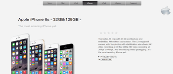 Apple Product Page